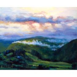 Valle con nubes