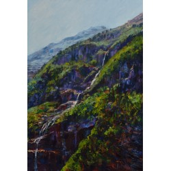 Impressionistic waterfall