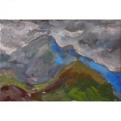 Montaña en azul